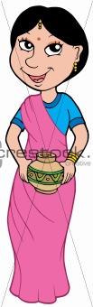 Asian girl in sari