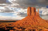 Monument Valley Buttes With Clouds