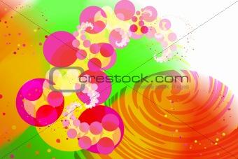 Background in style disko