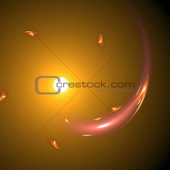 Abstract background. White - orange palette.