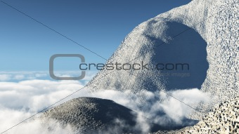 Mountain at the skyline