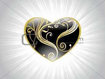 black heart with swirl design