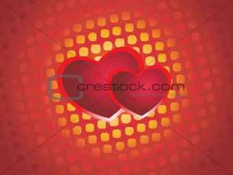 abstract set of love background