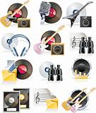 Vector musical icon set