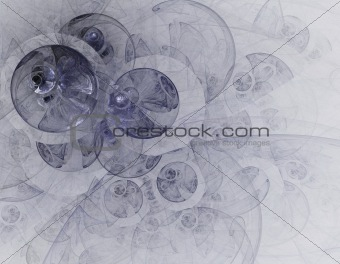 Abstract fractal circles
