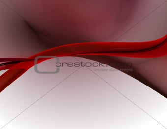 Abstract red-black wave