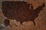 Rusty map of US