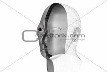 cybernetic man in 3d