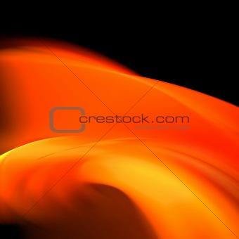 Abstract background. Black - orange palette.
