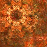 Abstract background. Orange - green palette.