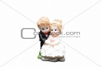 ceramic figures of newly-mariied couple