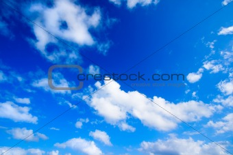 White clouds in sky