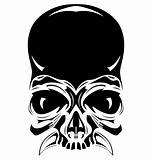 human vector black skull, tattoo