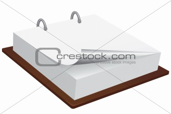 Blank memo pad with page curl.
