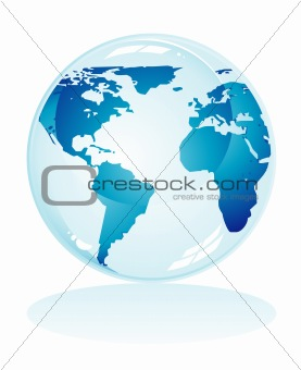 Blue Earth Background