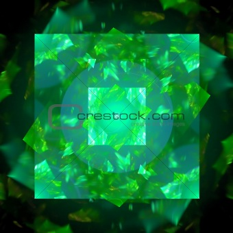 Abstract background. Green - black palette.
