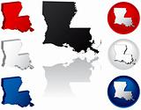 State of Louisiana Icons