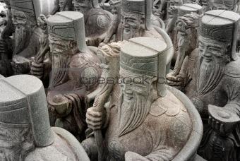 Group of Chinese Stone God