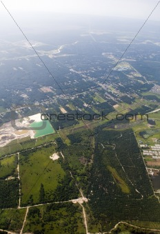 Aerial view of landscape of Malaysia