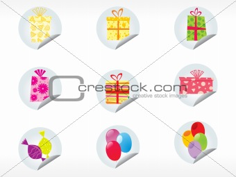 background with christmas sticker vector