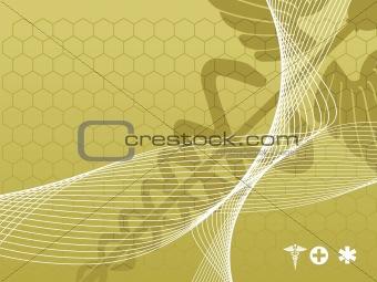 wave illustration with medical background