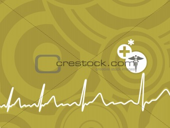 green circle heart beat background