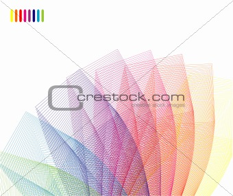 Abstract Rainbow corporate card