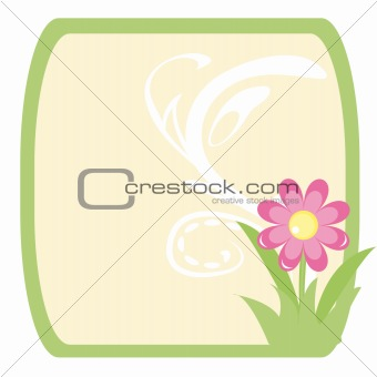 Frame with abstract flower for Easter