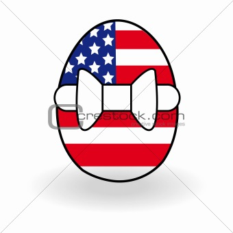 Abstract egg with USA flag for Easter day