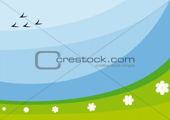 Background with abstract field