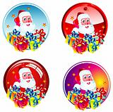 Santa stickers
