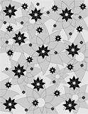 Texture with white and black  flowers