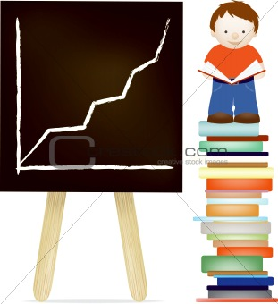 Boy and blackboard