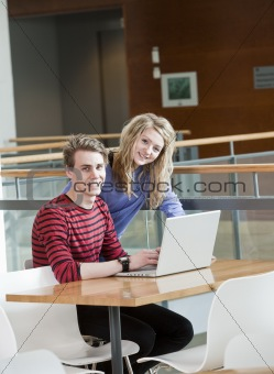 Couple by the computer