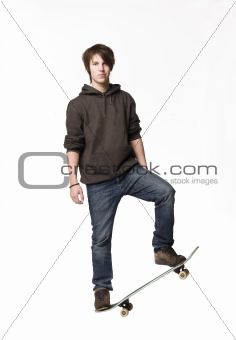 Man with a skateboard