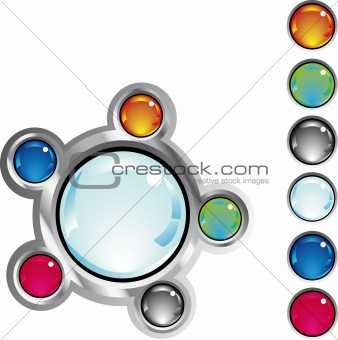 colorful fantasy web buttons