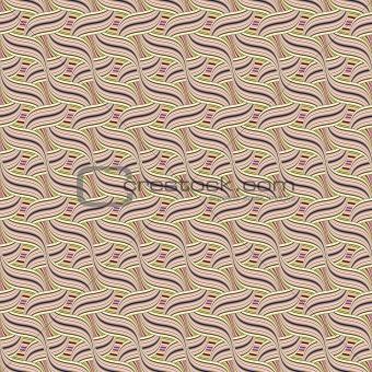 intertwined waves pattern