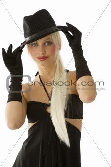blond in black
