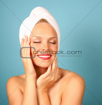 Beautiful Woman Having a Spa Treatment