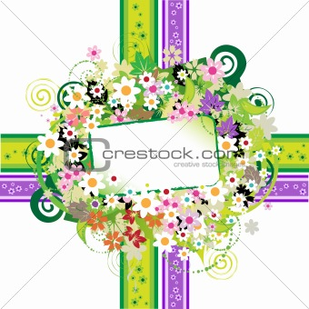 Floral frame beautiful