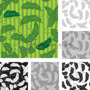 Foliage wallpaper, seamless