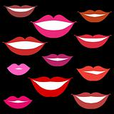Smiles, lips background