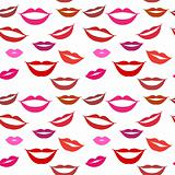 Seamless background lips, smiles