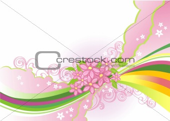 abstract flower background / vector