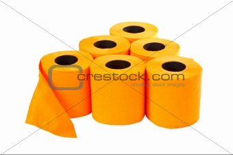 Some rolls of toilet paper