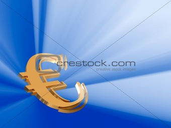 beaming gold euro