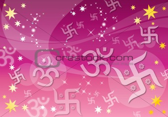 Abstract Indian Spiritual Background