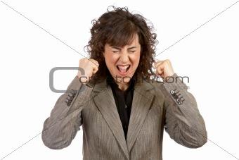 Angered businesswoman