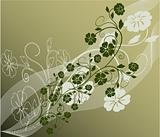 Beautiful nature decoration floral vector