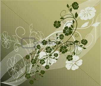 Beautiful nature decoration floral vector
